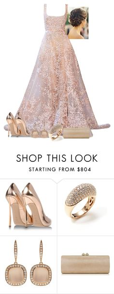 """""""Untitled #2811"""" by natalyasidunova ❤ liked on Polyvore featuring Elie Saab, Casadei, Vendoro, Astley Clarke and Jimmy Choo"""