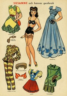 Swedish Allers in 1940 *1500 free paper dolls for Christmas at artist Arielle Gabriels The International Paper Doll Society and also free Asian paper dolls at The China Adventures of Arielle Gabriel *