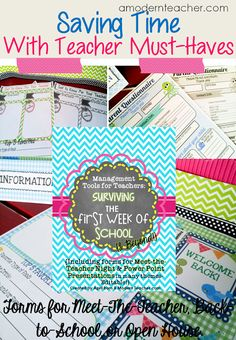 Management Tools for Teachers: Surviving the First Week of School and Beyond www.amodernteacher.com