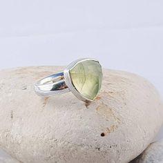 Solitare Ring, Blue Zircon, Beautiful Earrings, Statement Rings, Sterling Silver Rings, Gemstone Rings, Gemstones, Green Gem, Unique Jewelry
