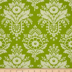 Heather Bailey Up Parasol Lulu Green from @fabricdotcom  Designed by Heather Bailey for Free Spirit, this cotton print is perfect for quilting, apparel and home decor accents.  Colors include green and grey.