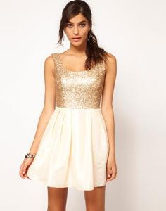 739bc37584 ASOS Sequin Dress with Square Neck at asos.com