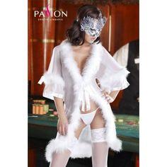 Alicia peignoir white - DouceLingerie #lingerie #nuisette #doucelingerie