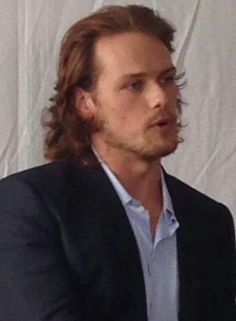 """""""@goldenglobes Having a candid conversation with Sam Heughan @heughan at San Diego Comic con, talking about #Outlander #SDCC"""""""