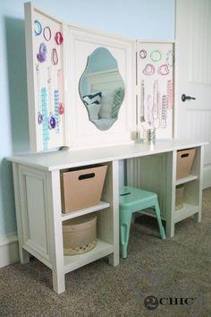 diy vanity for little girl. DIY Kids Vanity Little Girls Play Table  tables Vanities and Plays