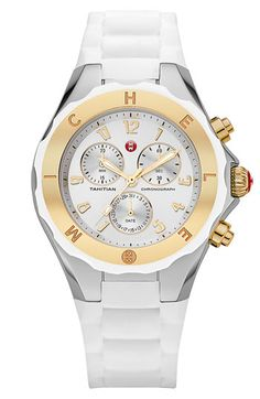 MICHELE 'Tahitian Jelly Bean' Two Tone Watch, 40mm available at #Nordstrom  $375...Love it for the summer!