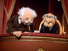 Statler & Waldorf it's me and you MJ!
