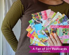 Paper Patchwork Postcards en masse by iHanna - for the swap #mailart