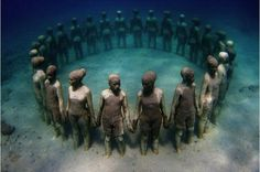 Underwater Sculpture Honoring Africans Thrown Overboard… | James' World 2 - This is an underwater sculpture, in Grenada, in honor of the African Ancestors that were thrown overboard the slave ships during the Middle Passage of the African Holocaust.