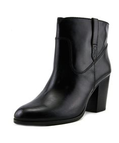 FRYE Frye Myra Bootie Women Round Toe Leather Black Ankle Boot. #frye #shoes #