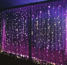 Our black fairy light wall draping backdrop. Event Styling Co Auckland Our black fairy light wall dr Quince Decorations, Light Decorations, Purple Party Decorations, Prom Decor, Aisle Decorations, Curtain Lights, Wall Lights, Fairy Light Curtain, Wall Fairy Lights