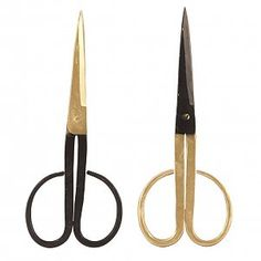 Housedoctor Scissors set of 2 iron black / gold 19cm