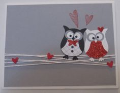 Chouettes amoureuse.  Perforatrice Chouette en kit 118074. Lovey-dovey owls, owl punch 118074.
