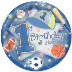 1st birthday sports theme | First Birthday All Star - Wholesale Party Supplies and Bulk Party ...
