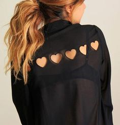 heart cutouts for valentines day.. put a red tank top under this & it would be cute!
