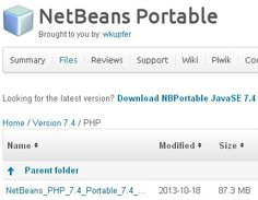 NetBeans PHP 7.4 Portable http://sourceforge.net/projects/nbportable/files/Version%207.4/PHP/ |  NetBeans/PHP Portable requires jPortable http://portableapps.com/apps/utilities/java_portable  |  NetBeans IDE Keyboard Shortcuts http://netbeanside61.blogspot.com/2008/04/top-10-netbeans-ide-keyboard-shortcuts.html
