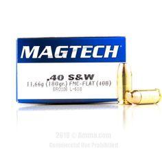 Magtech 40 cal Ammo - 1000 Rounds of 180 Grain FMJ Ammunition  #Magtech #MagtechAmmo #40CalAmmo #FMJ