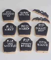 halloween sugar cookies funny tombstone sayings the alison show