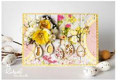 Easter card, Handmade by Katush: Veľkonočná challenge / Easter challenge Easter Card, Challenges, Projects, Cards, Handmade, Log Projects, Blue Prints, Hand Made, Maps