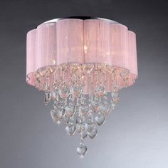 Warehouse of Tiffany Eos RL7918-6 Flush Mount Light, Silver