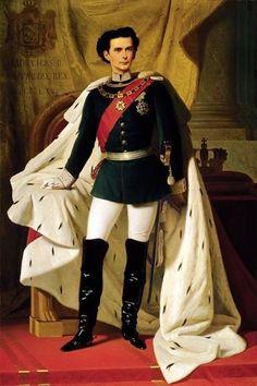 King Ludwig II, by Ferdinand von Piloty, Munich, Linderhof Palace, Kaiser Franz, Neuschwanstein Castle, Fairytale Castle, Ludwig, Bavaria Germany, European History, Ferdinand, Fairy Tales