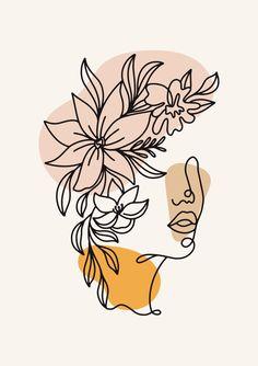 Abstract Face Art, Abstract Drawings, Art Drawings, Grafic Art, Trending Art, Minimalist Art, Art Projects, Canvas Art, Outline Art
