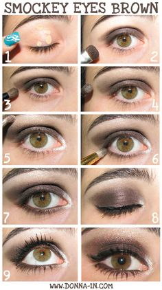 Make up tutorial  http://www.donna-in.com/2012/02/smockey-eyes-marrone-tutorial-passo-passo/
