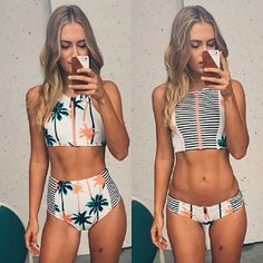 2017 sommer Stile Dreieck Sexy Crop Top Hängen High Neck Bikini Set Dick Gepolsterte Bademode Frauen Low Waist Badeanzug Bade anzug