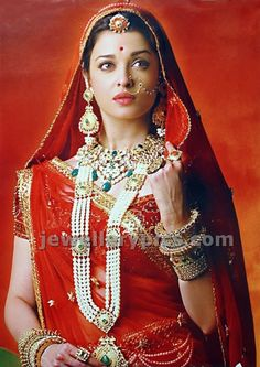 Bridal Outfits by Neeta Lulla. If you have ever wondered the designer behind Aishwarya Rai's gorgeous outfits in Jodha Akbar, its none other than Neeta Aishwarya Rai Jodha Akbar, Jodhaa Akbar, Saris, Indian Dresses, Indian Outfits, Indian Clothes, Pakistani Dresses, Rajputi Dress, Neeta Lulla