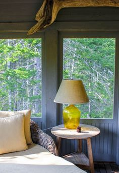 Each cabin at Hidden Pond includes a fireplace, attached, private screened-in porch which is the perfect place to curl up with a book. Sweet Fern, Kennebunkport Maine, Screened In Porch, Rain Shower, Two Bedroom, Vacation Ideas, Compass, Twine, Perfect Place