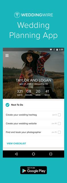 Plan your wedding on the go! Download the free app to count down to your wedding, organize tasks, track payments, find vendors & more!