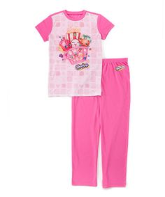 Love this Shopkins Pink Ride Short-Sleeve Pajama Set - Girls on #zulily! #zulilyfinds