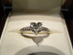 Heart Shaped Engagement Ring, Love the heart shape diamond! Diamond Wedding Rings, Diamond Rings, Diamond Engagement Rings, Engagement Ring Shapes, Cute Engagement Rings, Heart Shaped Engagement Rings, Wedding Engagement, Do It Yourself Fashion, Heart Shaped Diamond