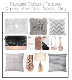 """""""Copper, Rose Gold, Marble & Grey!"""" by eibba02 ❤ liked on Polyvore featuring art"""