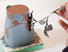 paper resist with underglaze stenciling Ramsay Ceramics Process. Take a ceramics workshop offered by CMA . Pottery Tools, Pottery Classes, Slab Pottery, Ceramic Pottery, Pottery Art, Thrown Pottery, Pottery Wheel, Ceramic Workshop, Ceramic Studio
