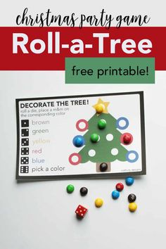 Christmas Dice Game: Free Printable Kids Activity