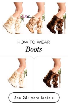 """Winter Fur Boots"" by lollicouture on Polyvore featuring Winter, Boots, fur, Kneehighboots and furboots"