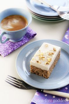 Carrot quinoa bars with vegan cream cheese icing. Gluten-free.