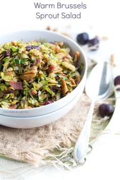 Warm Brussels Sprout Salad - chocolate & carrots