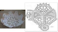 Zaczarowany Świat Alicji: koszyczki Crochet Vase, Diy Crochet Basket, Crochet Basket Pattern, Thread Crochet, Filet Crochet, Crochet Doilies, Crochet Storage, Wedding Ornament, Crochet Designs