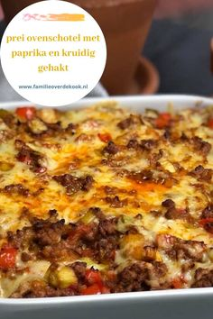 oven dish with leek, bell pepper and spicy minced meat Dinner Recipes Easy Quick, Easy Pasta Recipes, Best Dinner Recipes, Easy Meals, Chicken Recipes, Low Carb Vegetarian Recipes, Healthy Crockpot Recipes, Healthy Family Dinners, Healthy Meals For Kids