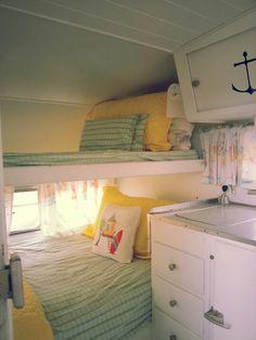 Retro camping bunk beds.