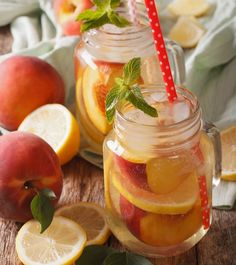 Find delicious recipes using SPLENDA® Sweeteners to reduce calories from sugar. Choose from diabetes friendly , heart healthy , low calorie recipes , and more. Peach Lemonade Recipes, Splenda Recipes, Best Protein Bars, Peach Syrup, Fruit Drinks, Light Peach, Low Calorie Recipes, Recipe Using