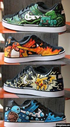 pokemon shoes which one would you wear? ^^ (Squirtle, definitely Squirtle, and I wouldn't be seen dead in Pikachu - the rat is far too mainstream.)