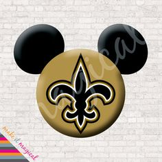 New Orleans Saints Mickey Mouse Head Digital by MakeitMagical