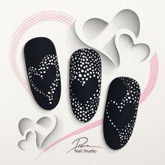 Pin by Nagelstudio Eggesin on Muster Nail Art Saint-valentin, Nail Art Hacks, Valentine's Day Nail Designs, Nail Art Designs Videos, Beautiful Nail Art, Gorgeous Nails, Beautiful Pictures, Diy Nails, Manicure