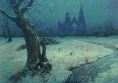 """""""The Lost Cathedral"""" a painting influenced by Caspar David Friedrich. Oil on linen 22"""" x 16"""""""