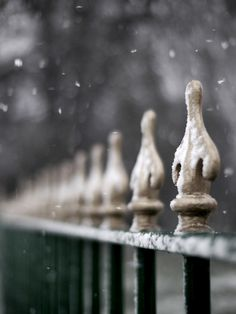 See amid the winter snow.... a fence by kirstinmckee