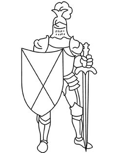 apples4theteacher coloring pages knight | Knight Armor with Sword and Shield in Middle Ages Coloring Page ...