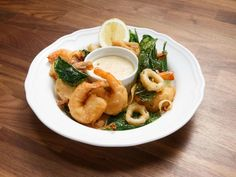 """Fritto Misto"" Mixed Fried Seafood with Tartar Sauce Recipe 